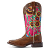 Women's Circuit Champion Western Boots in Vintage Amber 10031636 Ariat side