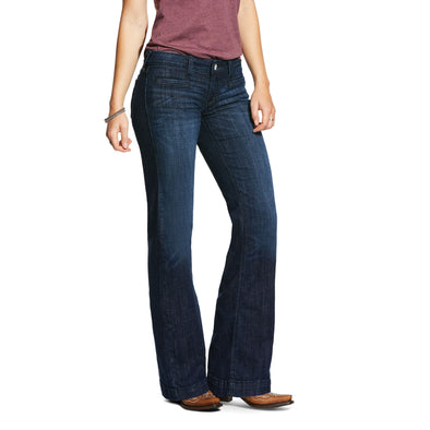 Women's Trouser Mid Rise Stretch Stargazer Wide Leg Jeans in Rascal  Ariat
