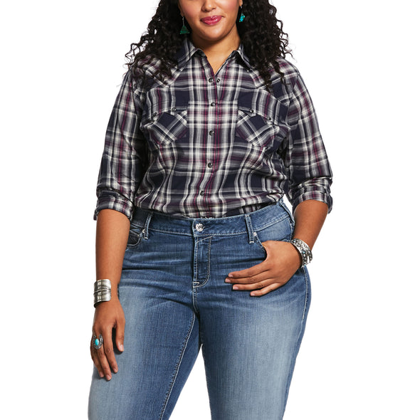 Women's REAL Virtue Shirt in Peacoat, 10032029 Ariat plus size
