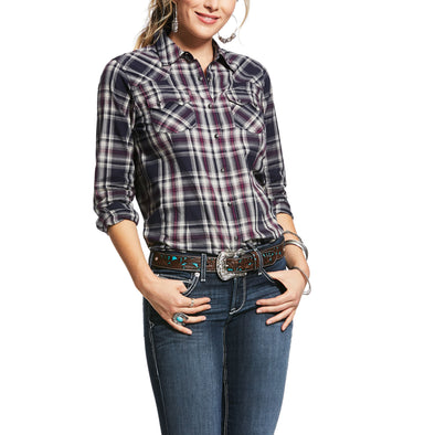 Women's REAL Virtue Shirt in Peacoat, 10032029 Ariat