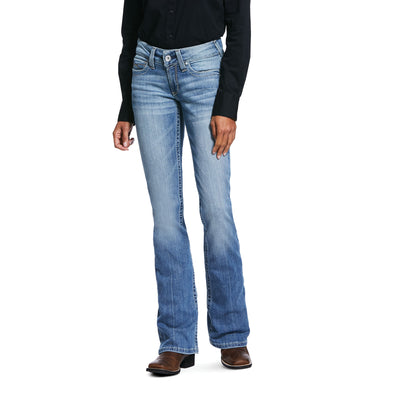 Women's R.E.A.L. Mid Rise Stretch Rosa Boot Cut Jeans in Bombshell W/O Destruction 10032048 Ariat
