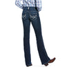 Women's R.E.A.L.™ Low Rise Stretch Glitz Boot Cut Jeans in Twilight Cotton, 10032093 Ariat back