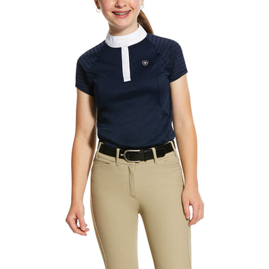 Kid's Aptos Vent Show Shirt in Show Navy, 10030373 Ariat