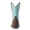 Kid's Tombstone Western Boots in Bay Brown 10031516 Ariat heel