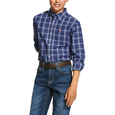 Kid's Pro Series Gadsen Classic Fit Shirt in Twilight Blue 10030627 Ariat