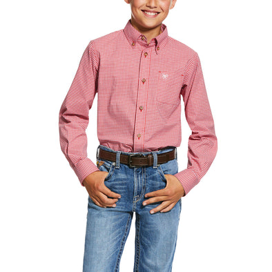 Kid's Pro Series Grover Stretch Classic Fit Shirt in Postbox 10030628 Ariat