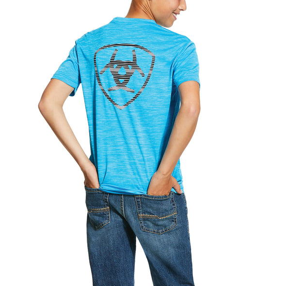 Ariat Kid's Charger T-Shirt in Nautilus Blue, 10030630 Ariat back