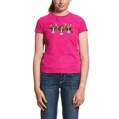 Kid's REAL Hay Girl T-Shirt in Rose Hibiscus,10031846 Ariat