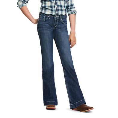 Kid's R.E.A.L. Stretch Heirloom Wide Leg Jeans in Chill Blue 10032109 Ariat