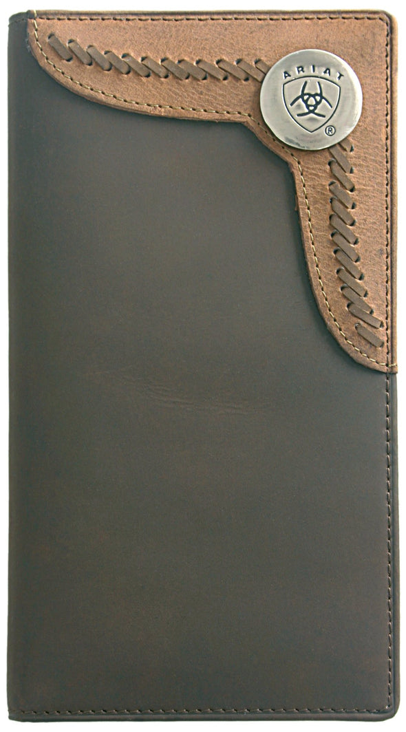 Arait Wallet Rodeo - Two Toned Accent Overlay Brown / Tan WLT1103A