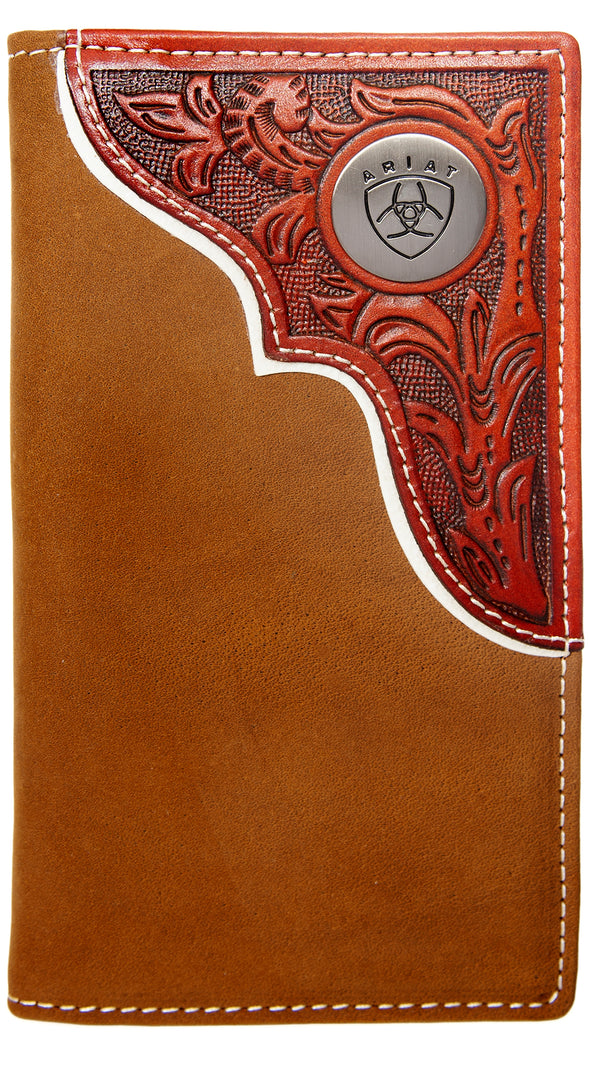 Ariat Rodeo Wallet - Tooled Overlay Dark Tan WLT1112A