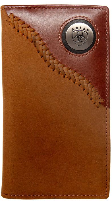 Ariat Rodeo Wallet - Two Toned Stitched Dark Tan WLT1113A