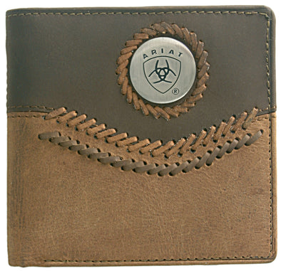 Ariat Wallet Bi-fold Two Toned Accents - Tan WLT2101A