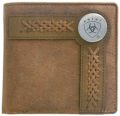 Ariat Wallet Bi-fold Weave Tan WLT2102A