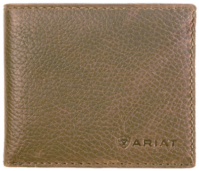 Ariat Logo Wallet Distressed Brown