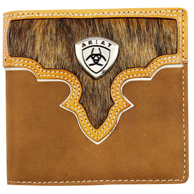 Ariat Wallet Bi-fold - Two Toned Hair On Brown WLT2108A