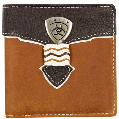 Ariat Wallet Bi-fold - Overlay Dark Brown WLT2109A