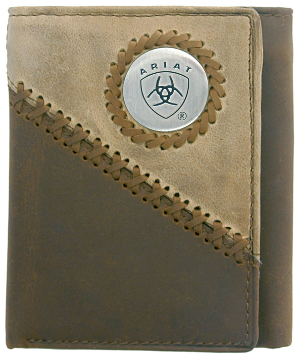 Ariat Tri-Fold Wallet Two Toned Distressed WLT3100A