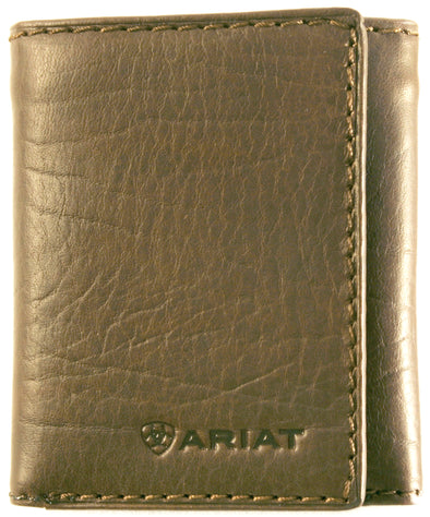 Ariat Tri-Fold Wallet - Logo Dark Brown WLT3107A