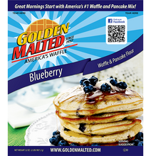 Load image into Gallery viewer, Golden Malted Waffle Mix - Blueberry