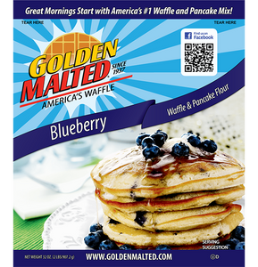 Golden Malted Waffle Mix - Blueberry