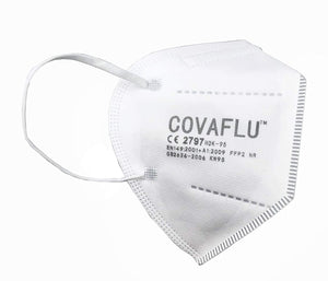 COVAFLU KN95 Disposable Fold Flat Face Mask (Pack of 5 KN95 Face Masks)