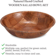 Tablecraft Wood bowl, 10-Inch - Set of 6