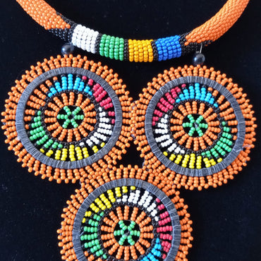 Beaded Pendant Necklace