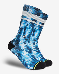 FLINCK blue tie-dye crossfit sports socks blauwe sokken