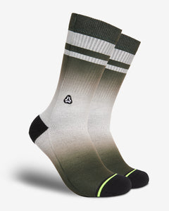 FLINCK dip dye socks green army