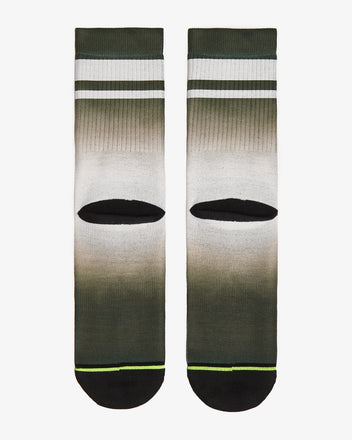 Load image into Gallery viewer, FLINCK dip dye socks green army back