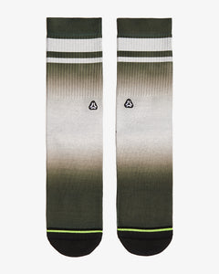 FLINCK dip dye socks green army front