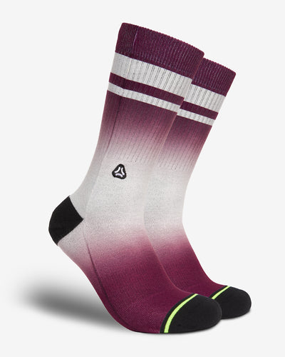 FLINCK dip dye sports socks red