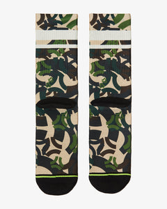 FLINCK Army camo socks green back
