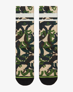 FLINCK Army camo socks green front