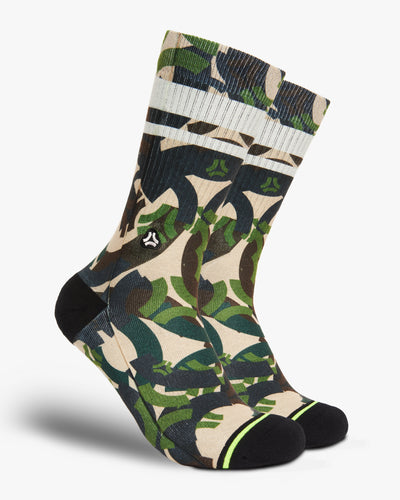 FLINCK Army camo socks green