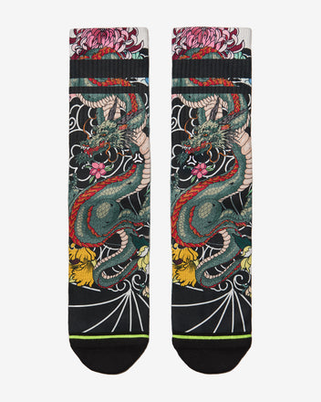 Load image into Gallery viewer, FLINCK sokken Japanese dragon tattoo crossfit sports socks front