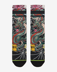FLINCK sokken Japanese dragon tattoo crossfit sports socks front