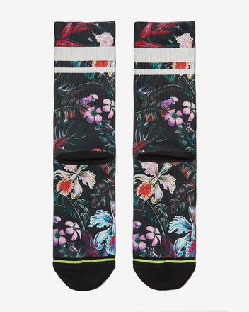 Load image into Gallery viewer, FLINCK sokken jungle flower crossfit sports socks men women back