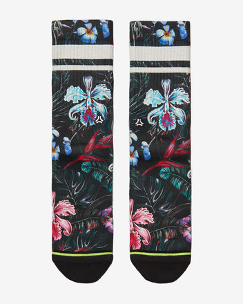 Load image into Gallery viewer, FLINCK sokken jungle flower crossfit sports socks men women front