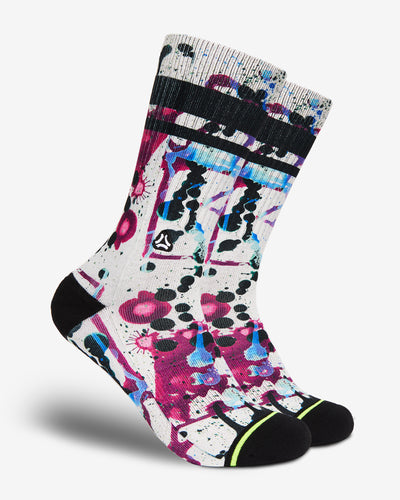 paint splatters crossfit sports socks men women