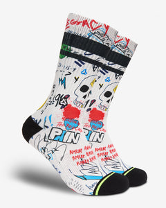 FLINCK sokken graffiti crossfit sports socks men women