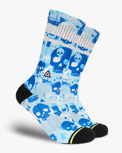 blue skull camo crossfit sports socks men women
