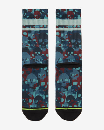 Load image into Gallery viewer, FLINCK sokken red blue skull camo crossfit sports socks  men women back