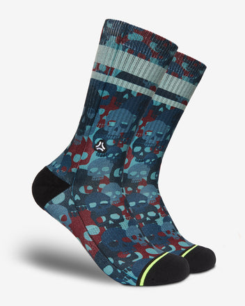 Load image into Gallery viewer, FLINCK sokken red blue skull camo crossfit sports socks men women