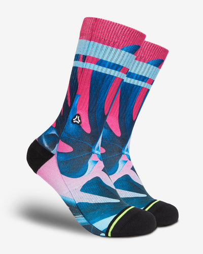 pink miami vice crossfit sport socks men women