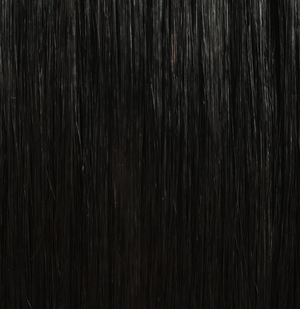 Black Hair Extension Swatch Jet Black #1