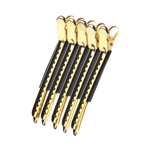 Gold Sectioning Clips Hairdressing