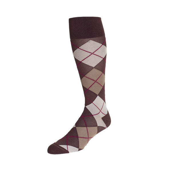 Rejuva Argyle Compression Socks 20-30 mmHg
