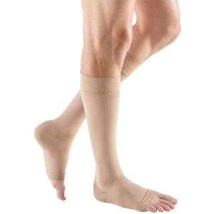 mediven forte, 30-40 mmHg, Calf w/ Silicone Top-Band, Open Toe